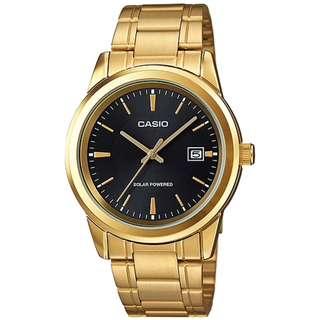 CASIO ANALOG-MEN'S watch 金色 SOLAR 太陽能 MTP-VS01G-1A