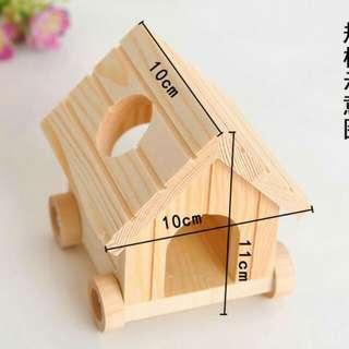 倉鼠玩具倉鼠房子 倉鼠窩 小車屋 可移動小木屋
