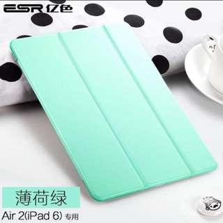 ★ 送貼膜 保護膜 ★ 億色ipad air保護套 Apple保護殼 air硅膠超薄全包防摔 平板電腦 薄荷綠iPad Air iPad Case