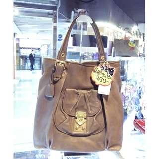 Miu Miu Brown Leather Shoulder Shopping Tote Hand Bag MiuMiu 繆繆 啡色 皮革 真皮 手挽袋 手袋 肩袋 袋