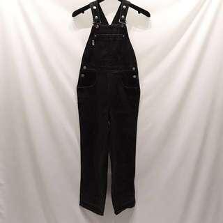 Vintage GUESS古著牛仔吊帶寬褲