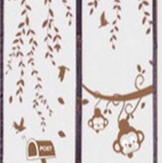 Tirai magnet coklat