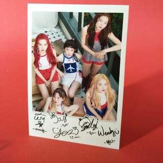 Red Velvet Polaroid Picture