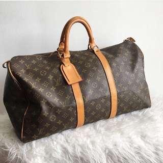 💯Authentic Louis Vuitton Keepal 50