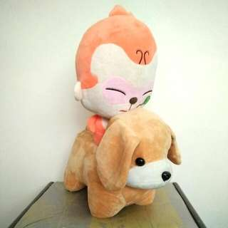 Dog and Monkey Soft Toy / Plush #CNY88