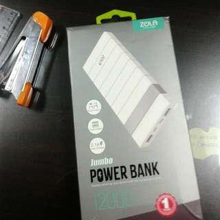 Powerbank Zola Jumbo 12000 MAh Fast Charging 2.1A