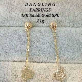 18K SAUDI SPL GOLD EARRINGS