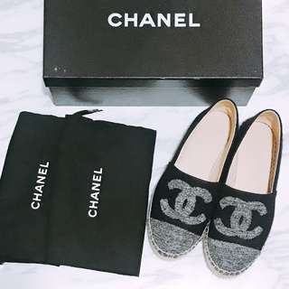 Chanel Espadrilles 草鞋 Grey Tweed