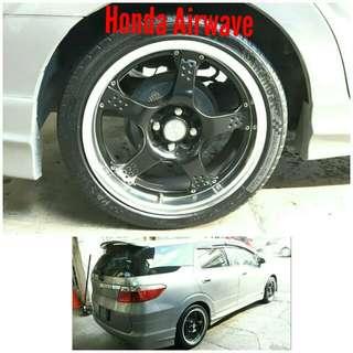 Tyre 205/45 R17 Membat on Honda Airwave 🐓 Super Offer 🙋
