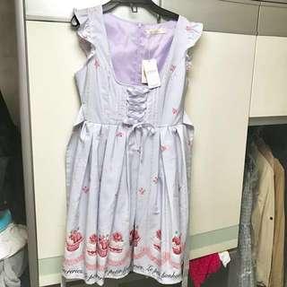 Ank rouge 蛋糕 cream 甜品 草莓 交叉系帶 連身裙 背心裙 secret honey liz lisa