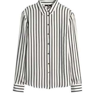 Hnm satin blouse white salur