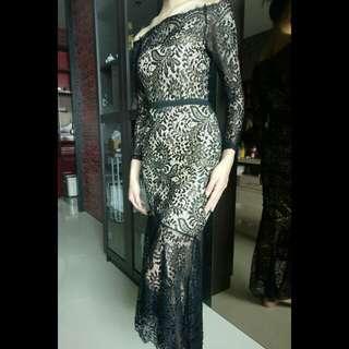 sabrina lace party dress