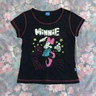 Disney Minnie Outlined Short Tee in Black #MidJan55