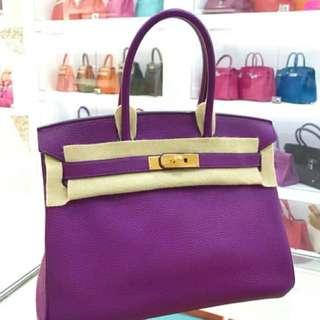 Hermes Birkin 30 P9最美的紫色💜金扣🔥
