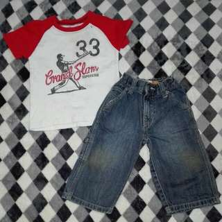 Set baju boy 1-2 years