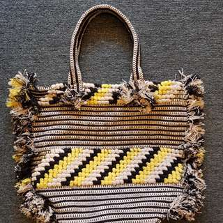 Whistles Woven Fringe Tote