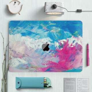 Abstract Paint Brush Tone Macbook Vinyl Decal