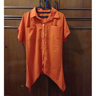 Orange Top with pocket