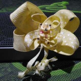 Jepit Rambut Bear/yellow