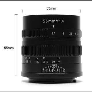 7Artisans 55mm F1.4 for Sony E-Mount & Fuji XF Mount