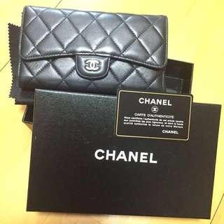 Chanel classic wallet 羊皮銀包