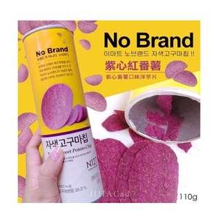[現貨馬上出貨]韓國 No Brand 紫薯洋芋片 異國零食 過年零食