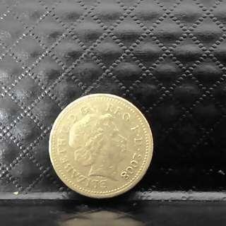 £1 coin (2008)