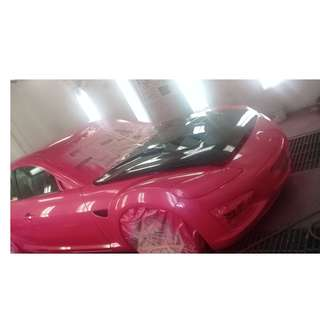 Car Spray Painting -  Candy colors - Customized paint works