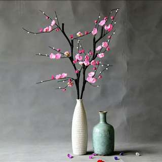 Chinese new year artificial cherry ume blossom flower artistic designer home floral arrangement