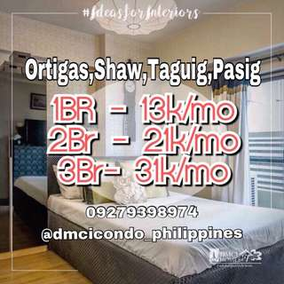 1BR 13k monthly Taguig,Pasig,Greenfield District,Ortigas