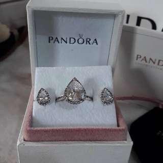 Pandora Ring and Earrings