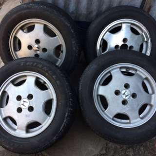 mags with tires from honda civic vti