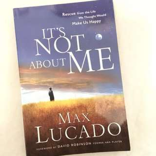 Charity Sale! It's Not About Me by Max Lucado
