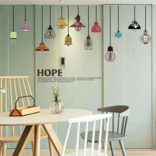 Lamps Wall Decal Sticker