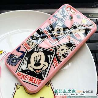 Pink Mickey Mouse Acrylic iPhone Case