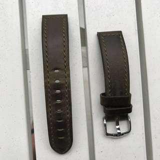 Hirsch genuine leather strap (20 mm green suede)
