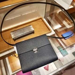 ✨剛1月買入! 🦄Hermes✨🌃Clic 16 wallet Bleu nuit 2Z 深夜藍 Epsom A $25500