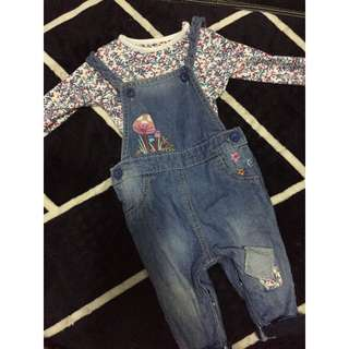 Mothercare Overall set
