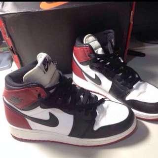 Air Jordan 1代 黑頭 6y