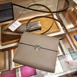 ✨剛1月買入! 🦄Hermes✨🗝Clic 16 wallet Etain 8F 錫灰色 Epsom A $25500