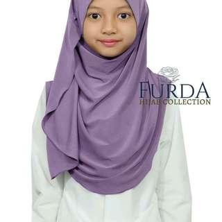 Hijab Kids Blue Grey