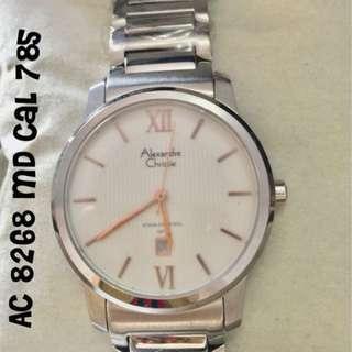 Jam  Tangan Pria Original Branded ALEXANDRE CHRISTIE AC8268 MD CaL 785 diameter 3.5