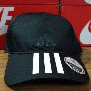 Adidas 3 Stripes Climalite Cap 'Black'