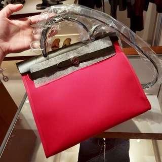 ✨剛1月買入! 🦄Hermes✨🌹Herbag 31 2017新色! Rose Extreme i6 玫瑰極限桃紅 A $21500