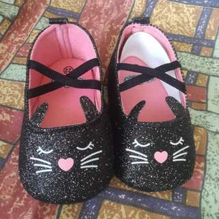 Black Kitty Baby Shoes