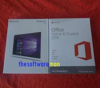 Microsoft Windows 10 Pro USB Boxset + Office 2016 (Home & Student) [NEW!]