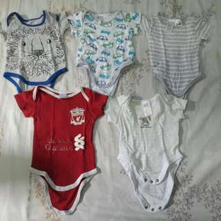 combo rompers size nb-3month condition harian