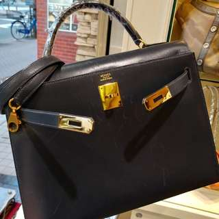 Hermes kelly 32 navy blue