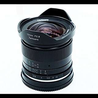 7Artisans 12mm F2.8 APS-C Lens for Sony E-Mount