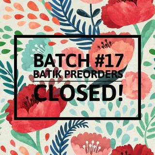 Batch #17 po CLOSED!